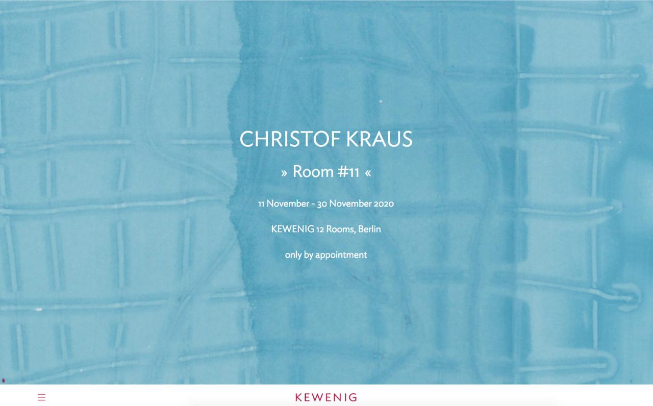 Christof Kraus @ Galerie KEWENIG